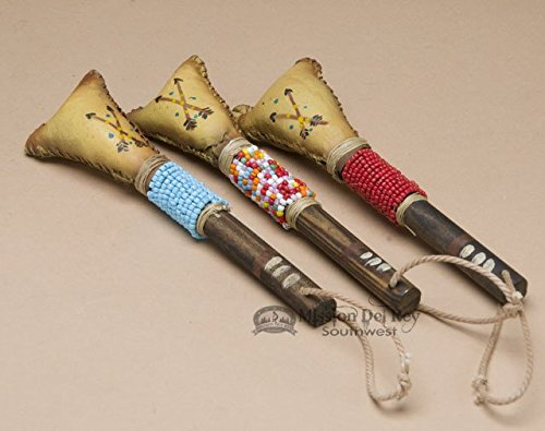 Native American Navajo Rawhide Rattle 6