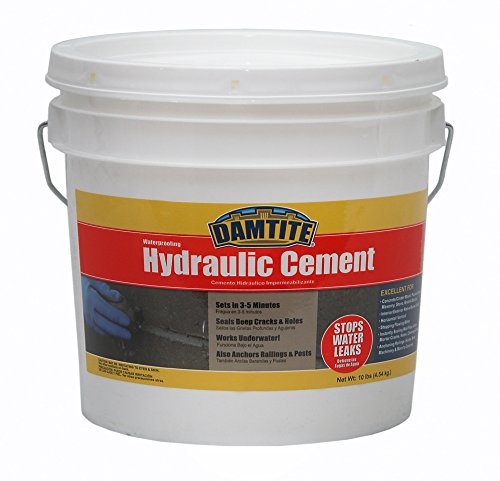 10 Lb Fast Plug - Damtite 07121 Gray Waterproofing Hydraulic Cement, 10 lb. Pail
