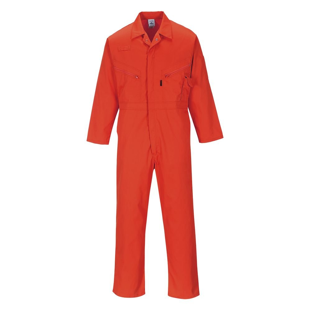 Portwest UC813RERXXL Regular Fit Liverpool-Zip Coverall XX-Large Red