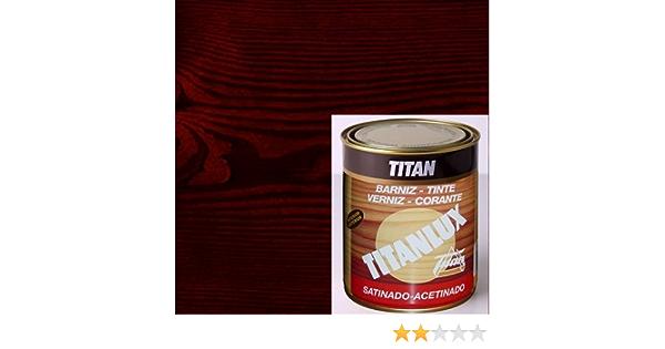 Titanlux Titan Barniz Tinte Satinado Caoba 750 ml: Amazon.es ...