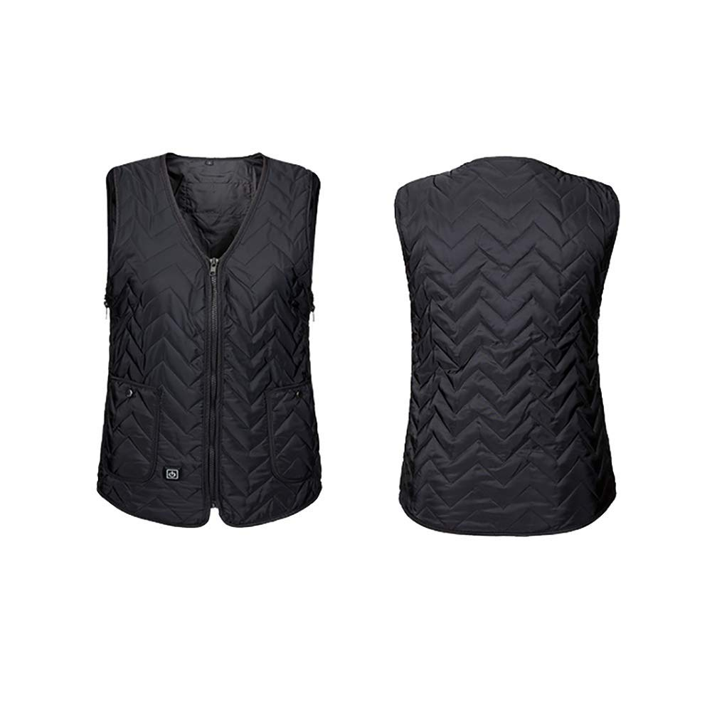 ZNDDB Electric Heated Vest USB Interface 3Speed Adjustment Intelligent Constant Temperature Winter Warm Vest Suitable For Dredging And Activating Meridians,6 Size (Not Including Power Supply)