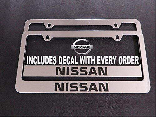 2 Brand New nissan chromed METAL license plate frame (metal) (Frame License Plate Nissan)