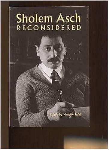 Sholem Asch Reconsidered (Yale University Library Gazette): Amazon.co.uk: Stahl, Nanette: 9780845731529: Books