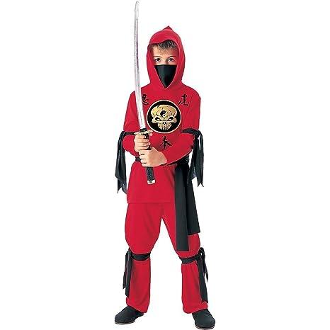 super speciali limpido in vista dopo Costume da Ninja i per Bambini - Rosso / Nero - 7-10 Anni - Taglia L (EU  140)
