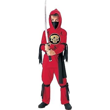 Tante Tina - Disfraz de Ninja para Niños en Rojo / Negro- 3 ...
