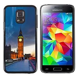 Caucho caso de Shell duro de la cubierta de accesorios de protección BY RAYDREAMMM - Samsung Galaxy S5 Mini, SM-G800, NOT S5 REGULAR! - The Big Ben London