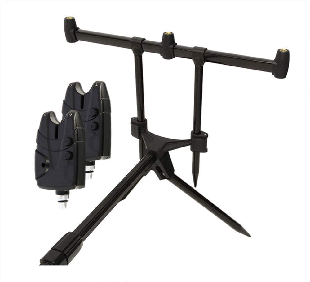 Tragetasche inklusive 2 Bissanzeiger mit Ton g8ds/® Set Rod Pod Rutenhalter und Lautst/ärkeregler f/ür 9V Block Karpfen Angeln