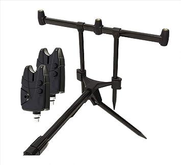 g8ds/® Set Rod Pod Rutenhalter Tragetasche inklusive 3 Bissanzeiger mit Lautst/ärkeregeler Karpfen Angeln
