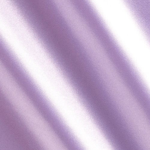 Ben Textiles Bridal Satin Lavender Fabric by The Yard,