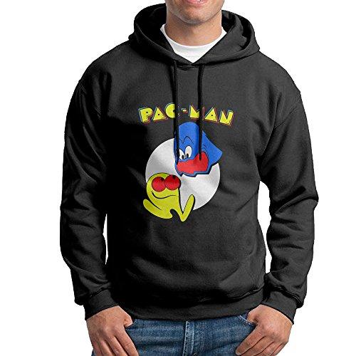 Pacman Pixel Boys Long Sleeve Black Pullover Hoodie -
