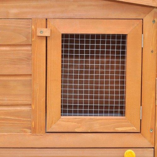 Vidaxl grande gabbia coniglio all 39 aperto casa piccoli for Piccoli piani domestici vittoriani