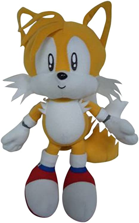 Amazon Com Ge Animation Sonic The Hedgehog Tails Plush 7 Toys Games