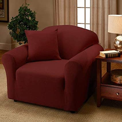 Navy Large Solid Madison Stretch Jersey Recliner Slipcover