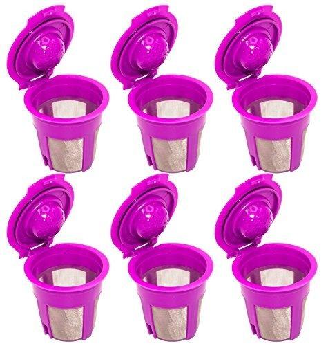 Mezcla de 6 unidades, filtro cafetera K-CUP MONODOSIS rellenable ...