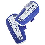 Chelsea FC Childrens/Kids Official Padded Football/Soccer Shin Guards (Boys (8-10 Years)) (Blue/White)
