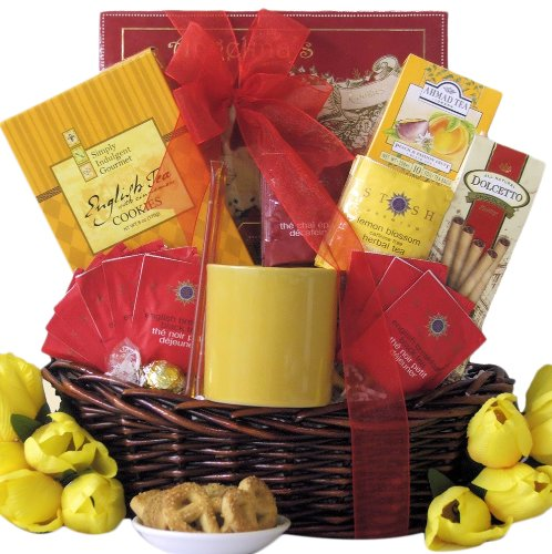 Great Arrivals Gourmet Tea Gift Basket, Tea Treasures Small