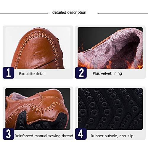 Invierno Estaciones Los Las Moda Hombre Fluff De Deslizarse Libre Ayudar Aire Bajo Black Plus Hombres Para Impermeables Casuales Al Pu Senderismo Botines Botas Terciopelo Cuatro Inside Zapatos Uvx1Tw1