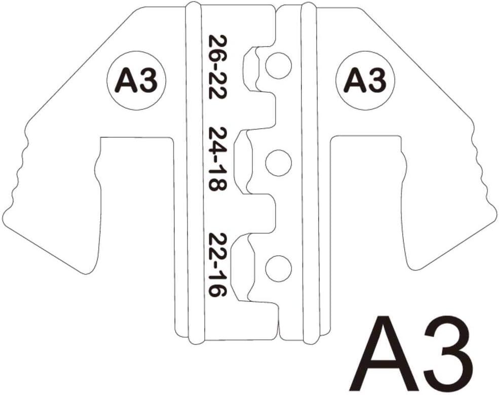 TOOLCRA TOOLCRAFT PLE-0A3 Matrices /à sertir pour cosses isol/ées Ouverture de serrage 0.1 /à 1.5 mm/² adapt/é pour marque