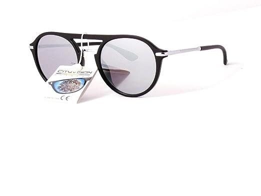 lunettes de soleil rondes verres ronds cityvision homme femme 025606 ( monture noire verres miroir) b53b7599f6f4