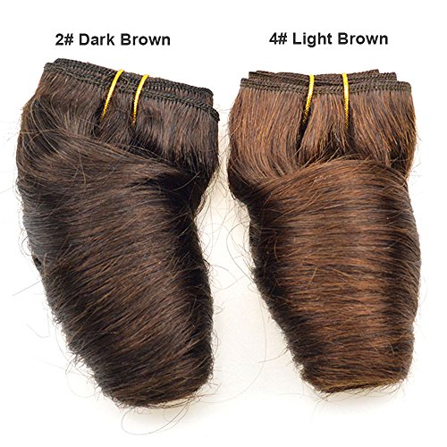 Black Friday Deals 2019 Bob Peruvian Loose Wave 4 Bundles 200g Wholesale Lots 12 Color Ombre Weave Spring Curly Wet And Wavy Human Hair Extensions (4# Light Brown) (Best Hair Bundles 2019)