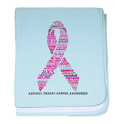 - Royal Lion Baby Blanket Pink Ribbon Breast Cancer Awareness - Sky Blue