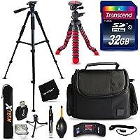 32GB Accessories Kit for Nikon Coolpix B700, B500, A900, L840 L830, L820, L620, L610, P900, P610, P600, Kit includes: 32GB Memory Card + Padded Case + 60 inch Tripod + 12 Flexible Tripod + MORE