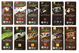 Endangered Species Chocolate Variety Pack 12 Flavors (Pack of 12) (Dark Chocolate with Cinnamon Cayenne, Dark Chocolate with Sea Salt & Almonds, Dark Chocolate with Cherry, Tiger Dark Espresso Beans, Rain Forest Dark Mint, Extreme Dark Chocolate , Wolf Dark Cranberry Almond, Sea Otter Milk Chocolate, Chimpanzee Dark Chocolate, Hazelnut Toffee, Panther Extreme Dark Chocolate, Dark Chocolate Blackberry Sage)