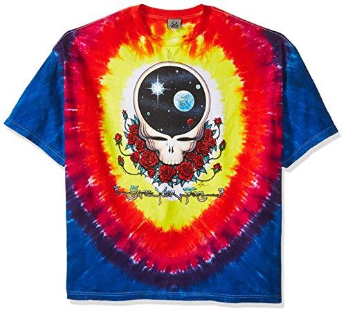 Liquid Blue Men's Plus-Size Space Your Face T-Shirt, Tie Dye, 6X-Large ()