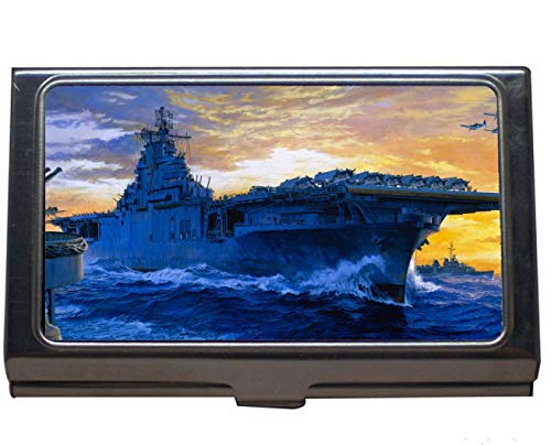 Credit Card Case/ID Case,Aircraft Carrier USS Yorktown Professional Business Card