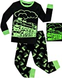 Boys Train Pajamas Christmas Pjs for Boys Sleepwear Children Clothes Glow in The Dark Size 10