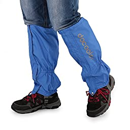 1 Pair Leggings Cover Nylon Breathable Gaiters Outdoor Unisex Zippered Closure Wear and Water Resistant Cloth Gaiters (Blue)