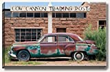 16 x 24 inch large gallery wrapped canvas photography of classic rusty Buick car at Cow Canyon Indian trading post