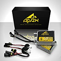 """55W Apex H7 Xenon Hid Conversion Kit """" All Bulb Sizes and Colors """" with Premium 55 Watt Digital Ballasts Hids Kits * Heavy Duty * all makes & models Honda Toyota Chevrolet Acura Nissan Ford GMC Scion and more ! 55 watts Very Bright Headlights Conversion"""
