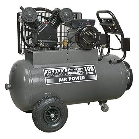 Sealey SAC3103B compresor cinturón disco delantero con panel de control, 3 hp, 100 litros: Amazon.es: Bricolaje y herramientas