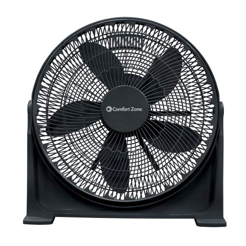 Comfort Zone CZ700T 20-inch 3-Speed High Velocity Fan with Adjustable Tilt and Sturdy Base