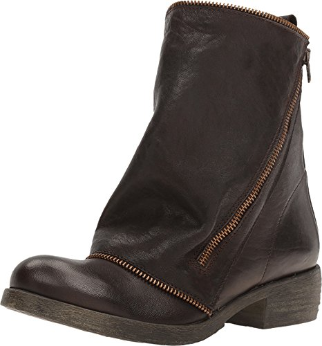 Massimo Matteo Womens Low Boot With Zipper Testa Di Moro