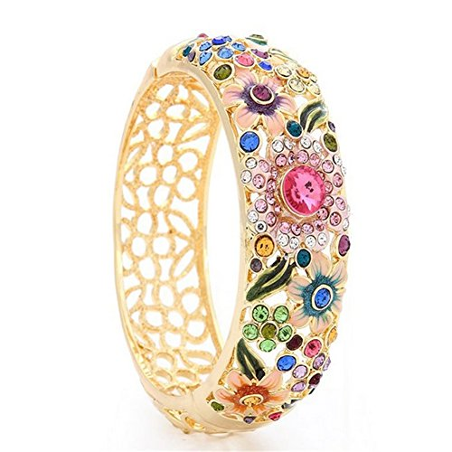 [ALot Retro Authentic Hand-painted Flower National Style Female Bracelet(G1)] (China National Costume Name)