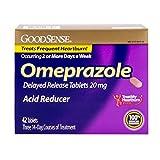 GoodSense Omeprazole Delayed Release, Acid Reducer Tablets 20 mg (Pack of 5)