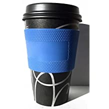 EverEasy Non-Slip Hot Proof Silicone Coffee Cup Sleeve Free Draw,pack of 2