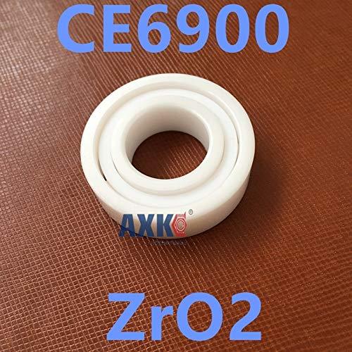 Ochoos 61900 6900 zro2 Full Ceramic Bearing CE6900 10x22x6mm Thin Section - (Length: 2RS)