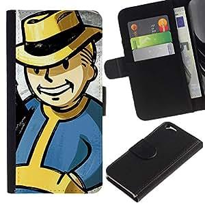 All Phone Most Case / Oferta Especial Cáscara Funda de cuero Monedero Cubierta de proteccion Caso / Wallet Case for Apple Iphone 6 // Vintage Retro Vault Boy