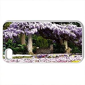 Beauty Of Spring - Case Cover for iPhone 4 and 4s (Flowers Series, Watercolor style, White)