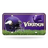 NFL Minnesota Vikings Metal License Plate Tag