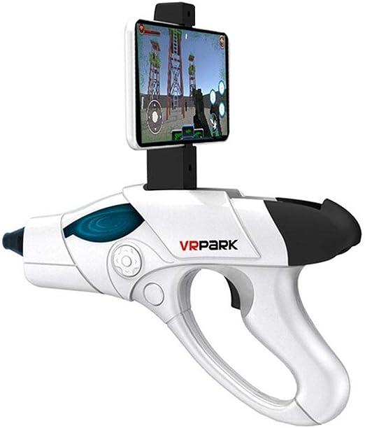 VRPARK Realidad Virtual Aumentada Toy Blaster para Niños Adolescentes AR Game Gun Controller con Video Completo de Juegos y iOS Android Smartphone Bluetooth Conecta Aplicación AR Gratis,Blanco,A9: Amazon.es: Hogar