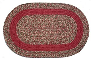 product image for Oval Braided Rug (3x5): Merlot Blend- Berry Band