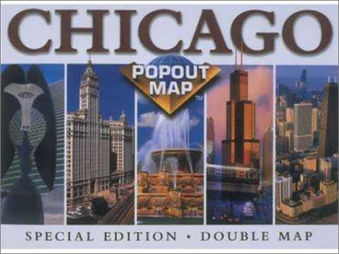 Chicago Popout Map (Popout - State Downtown Chicago Street