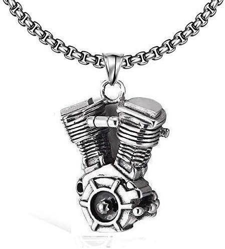 Emma joyas – collar cadena hombre mujer Unisex 60 cm colgante Motor Vintage de acero inoxidable Stainless Steel – Pack Regalo: Amazon.es: Joyería