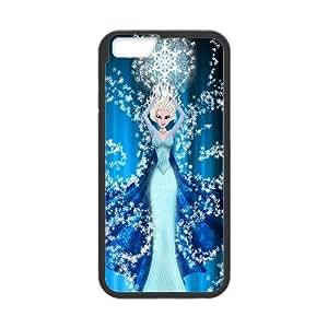 Elsa Frozen Cartoon iPhone 6 Plus 5.5 Inch Cell Phone Case Black y2e18-408998