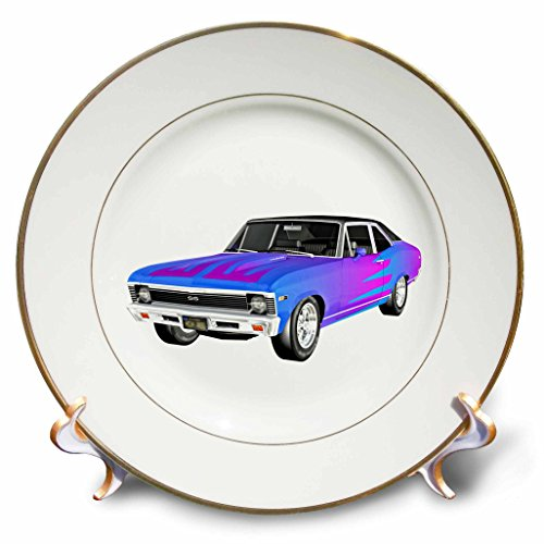 3drose Boehm Graphics Car 1968 Blue And Purple Muscle Car With