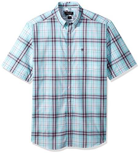 Ariat Men's Men's Big and Tall Classic Fit Short Sleeve Button Down Shirt-Pro Series